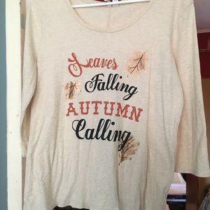 Fall shirt
